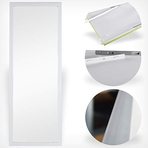 DRULINE Türspiegel Wandspiegel Garderobenspiegel Spiegel schrankspiegel Ankleidespiegel Dekoration Hängend | Schlafzimmer Wohnzimmer Badezimmer F0015070 |34cm x 94 cm x 1.5 cm | Weiß