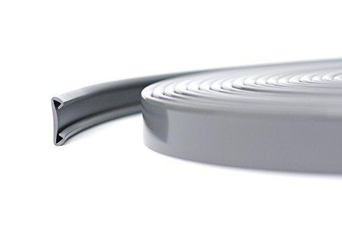 10m PVC Handlauf Treppenhandlauf Kunststoffhandlauf 40x8 mm dunkelgrau