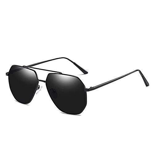 wangpu Gafas de sol de diseño moderno polarizadas para hombre, gafas de sol clásicas con espejo de sapo polarizadas (color: verde, tamaño: talla única)
