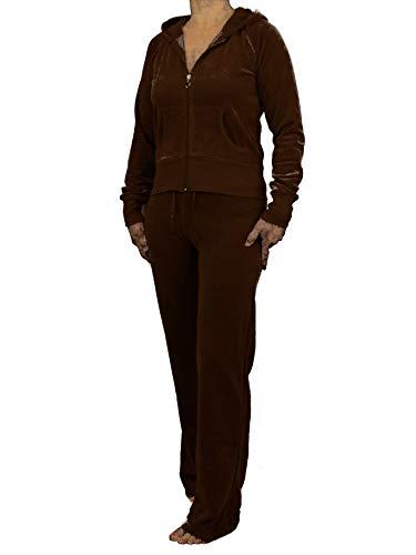 Love Lola® damskie wysokiej jakości welurowe dresy damskie kombinezony wypoczynkowe bluzy z kapturem biegacze plus rozmiary