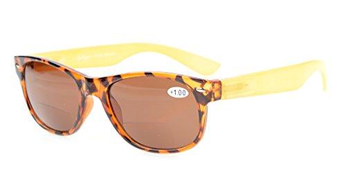 Eyekepper Bifocal Sunshine Readers kleine formaat Bifocal zonnebril Inclusief hoesje en reinigingsdoek +3.00 Brown Lens