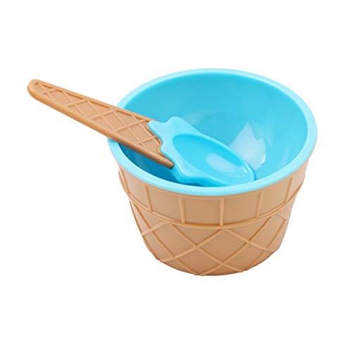 Underleaf Löffel Ice Cream Bowl Party liefert Dessert Styles Praktische Eisbecher Dish Cup