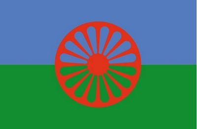 Autoaufkleber Sticker Fahne Sinti und Roma Flagge Aufkleber
