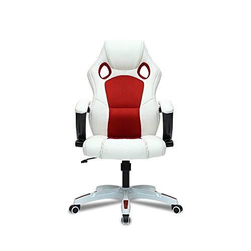 Cttiulixh Silla de Oficina reclinable con pies de Nylon Home Ergonomic Gaming Office con reposabrazos 360 Grados Rotating Lift Silla de computadora Home Gaming Juego Silla (Color : C)