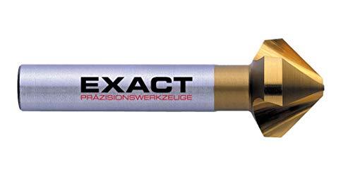 Exact 05546 Kegelsenker, Ø 6,3mm, 90°, HSS, TiN-Beschichtung, DIN 335C