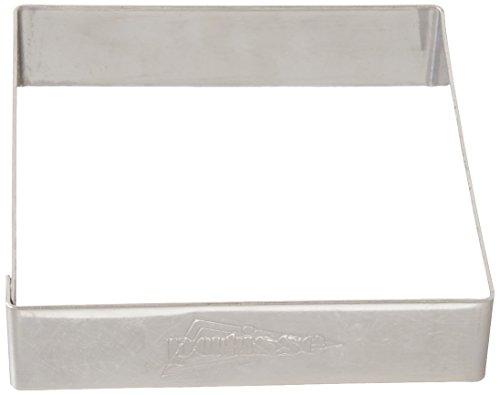 patisse 2048100 Cercle à biscut-Set Acier Inoxydable 18/8 bordé (4 cavités), Autre, Argent