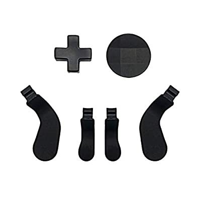 Metal D-Pads, Paddles Hair Trigger Locks Replacement for Xbox One Elite Controller Series 2 & Series 1