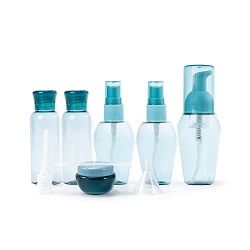 PPuujia Botellas de aerosol 6 unids/set de viaje Botellas recargables, Mini botella de spray portátil Loción Tarros Blister Botella cosméticos Muestra Contenedores (Color: Azul)