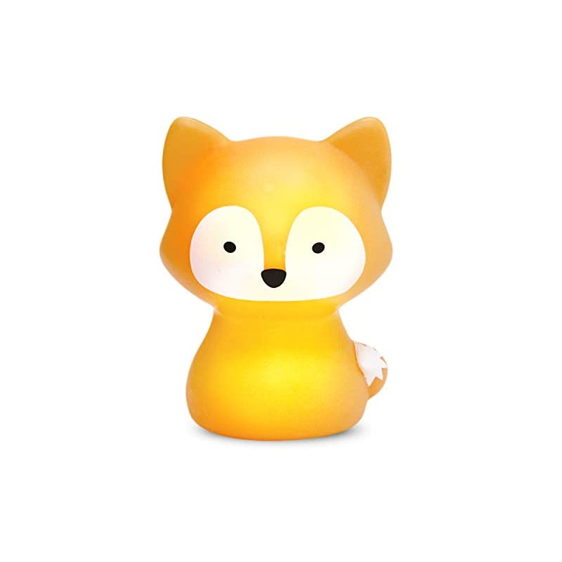 crib bedding and baby bedding someshine kids night light - rechargeable fox nursery night light with auto-off timer, safe and durable kawaii lamp and glowing companion for baby feeding, diaper changing, and midnight bathroom trips