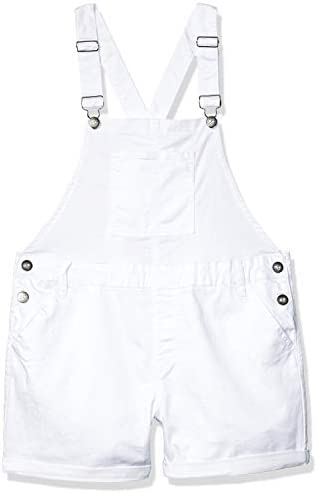 COVER GIRL Plus Size Juniors Cute Overall Shorts Slim fit Bib Strap Sexy White Denim 3X product image