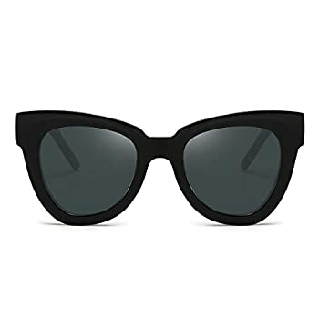 Dollger Retro Cat Eye Sunglasses Women Men Vintage Square Tortoise Shell Fashion Cateye Sunglasses Black