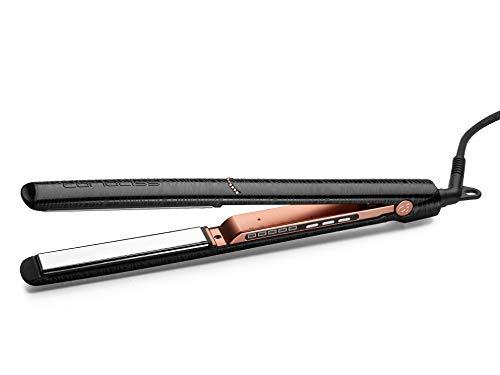 CORIOLISS C3 Piastra per capelli Professionale Titanio Display Digitale Infrarossi Ioni (Black Zebra Copper Swarovski)