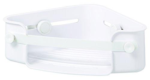 UMBRA Flex Gel-Lock™ Corner Bin. Panier d'angle pour douche Flex Gel-Lock. Etagère pour coins avec technologie de ventouses brevetée Gel-Lock. Coloris Blanc.