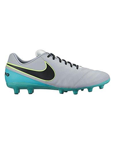 Nike Tiempo Genio II Leather AG-Pro, Botas de fútbol para Hombre, Gris (Wolf Grey/Black-Clear Jade), 40 EU