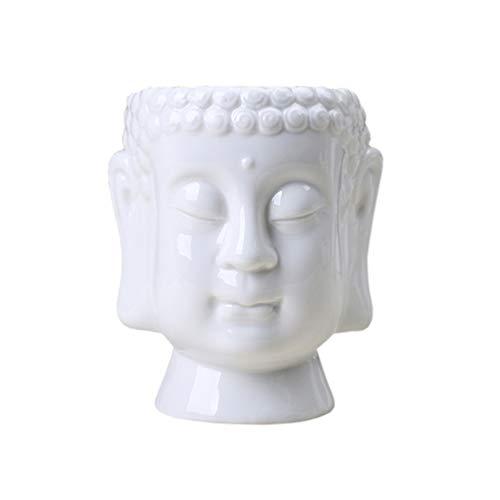VOSAREA Ceramic Ceramic Vase Flower Pot Artistic Flower Pot Creative Ceramics Buddha Vase Ornament