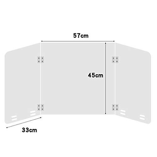 Nieschutzschutz, klarer Acryl-Plexiglasschutz für Zähler und Transaktionsfenster, Schutz gegen Husten und Niesen-57x33x45cm