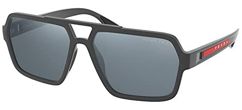 Prada Sport - Gafas de sol unisex para adulto PS 01XS Grey Rubber 116 cm