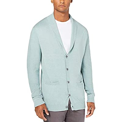 Tasso Elba Mens Pallo Button-Up Shawl Cardigan Sweater Ether S from Tasso Elba