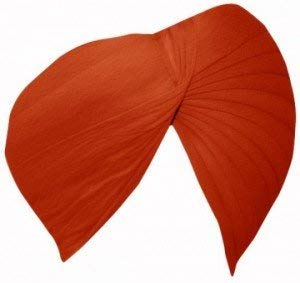 Sikh Cotton Turban for Men - Creamsicle orange Color - Double Stitched Punjabi Pagri - 8 Metre