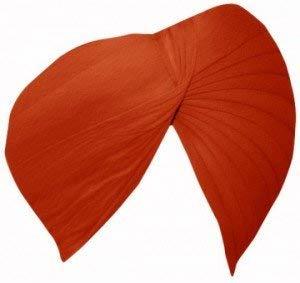 Sikh Cotton Turban for Men - Creamsicle orange Color - Double Stitched Punjabi Pagri - 8 Metre