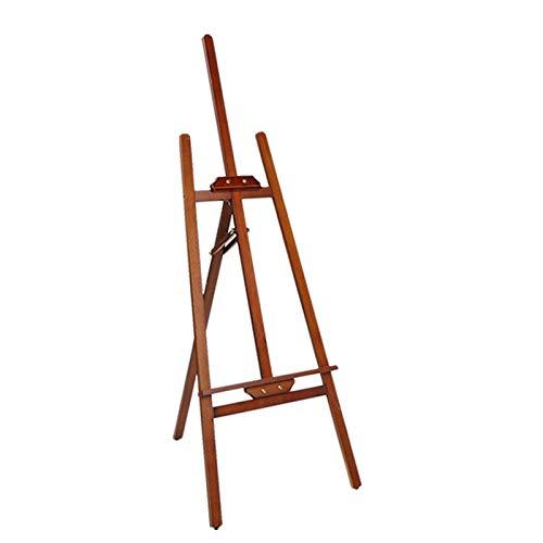 Color Art Supply 145cm Tall Wood Studio Verstelbare H-Frame Statief ezel staan voor het schilderen en schetsen 410 (Color : Brown)