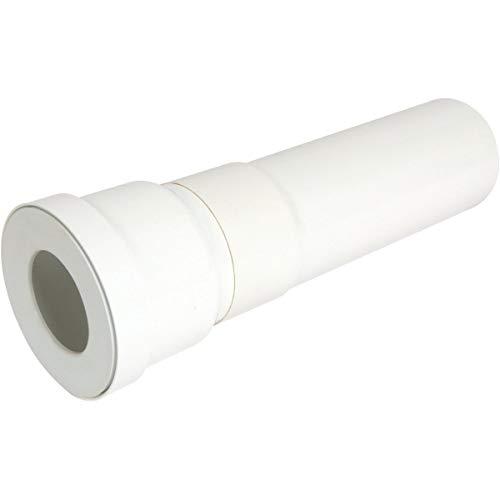pipe longue pour wc - diamètre 100 mm - longueur 400 mm - droite - nicoll qw3340
