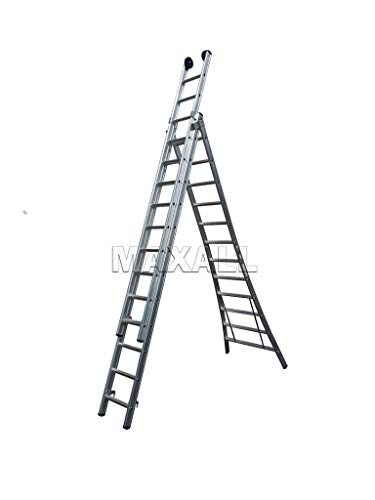 Eurostairs Reform ladder driedelig uitgebogen 3x9 sporten