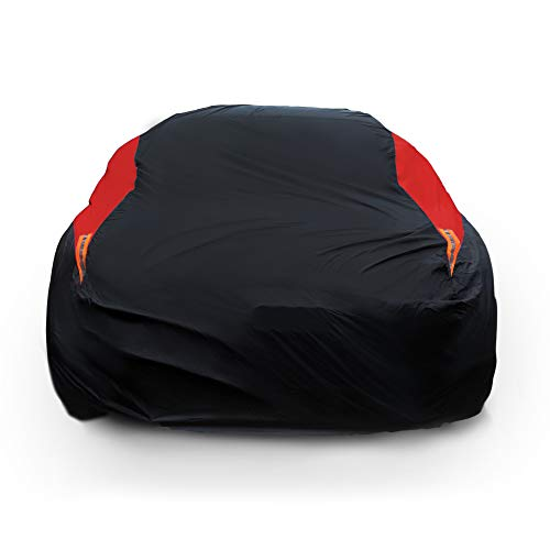 MORNYRAY Car Cover Waterproof All Weather Windproof Snowproof UV Protection Outdoor Indoor Full car Cover, Universal Fit for Sedan (Fit Sedan Length 194-206 inch)