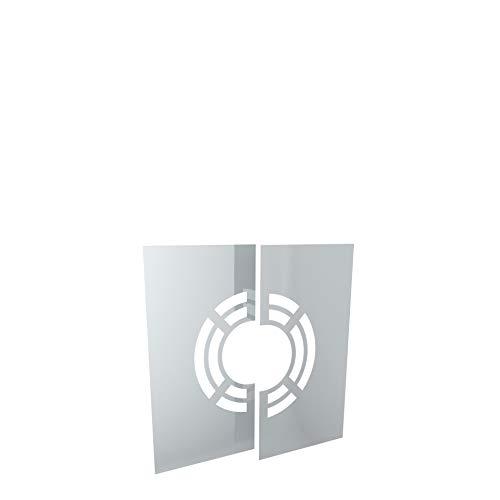 H&M New Line Edelstahlschornstein Schornstein Einzelteil Zubehör Deckenblende 0-30° für Ø100mm Innendurchmesser 25mm Isolierung Verkleidung unterer Ausschnitt Dachdurchführung hinterlüftet