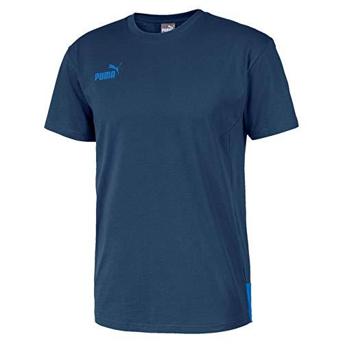 PUMA Herren T-Shirt ftblNXT Casuals Tee, Dark Denim/Palace Blue, 3XL, 656430