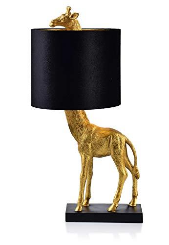 Lámpara de noche con diseño de jirafa, bonita y excepcional, diámetro de 23,5 cm x 55 cm.