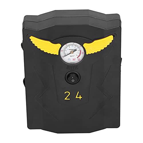Tissting Inflador de neumáticos de 12 V, Bomba de neumáticos de Coche rápida analógica, compresor de Aire portátil, Herramientas de Rueda para Bomba de neumáticos