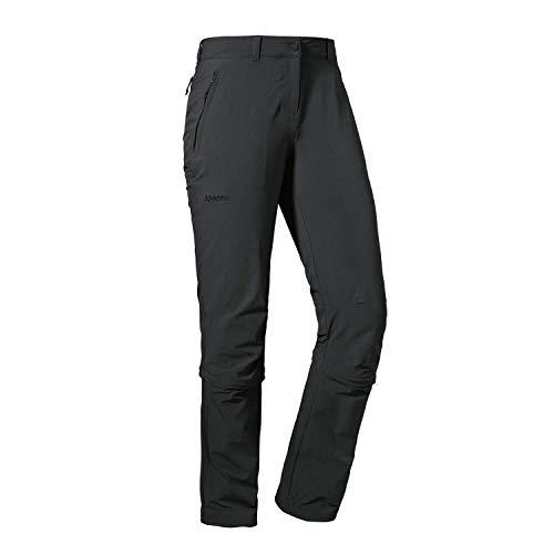 Schöffel Pants Engadin1 Zip Off, elastische Damen Hose mit Zip-Off Funktion, kühlende und schnell trocknende Outdoor Hose für Frauen Damen, asphalt, 42