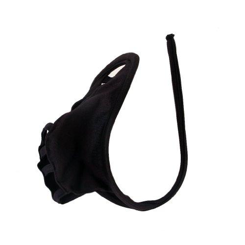 REFURBISHHOUSE C-string tanga bikini lenceria calzoncillos cortos cordel de bolsa hueca sexy de hombre - Negro