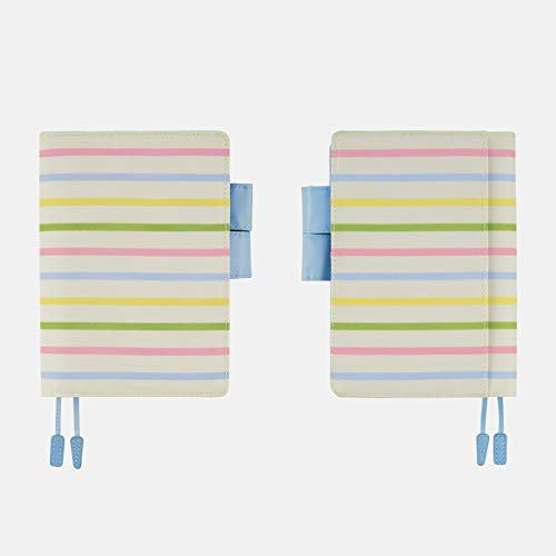 ほぼ日手帳 オリジナル(A6サイズ)手帳カバー/パステルボーダー(アイボリー) TTE1901N007CO