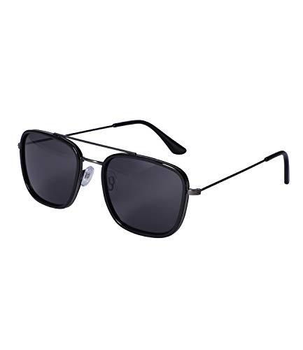 SIX Gafas de sol unisex para hombre y mujer, diseño de aviador, filtro UV400 y lente de categoría 3 (326-341)