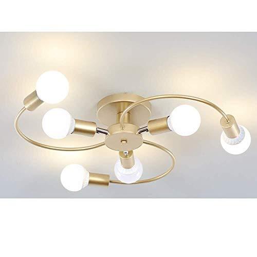 Moderne plafondlamp van ijzer rond verstelbaar zwenkarm plafondlamp slaapkamer woonkamer keuken eetkamer hal kroonluchter wandlamp verlichting incl. lampen