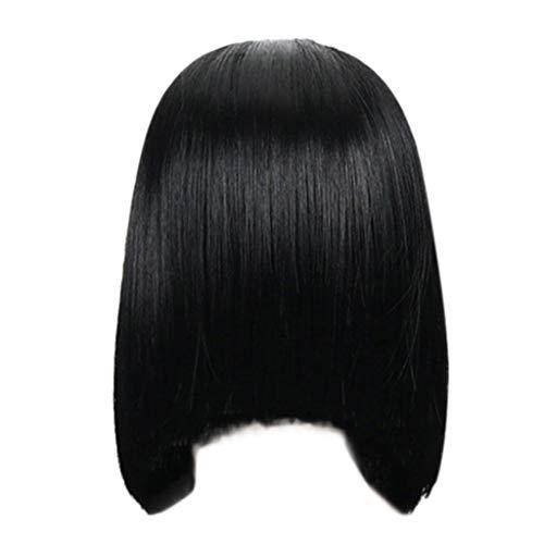 Perruques Bresiliennes Cheveux Naturels Noir Court Cheveux Raides Sexy Mode Pas Cher Postiches Bobo Wig Hair (Noir)