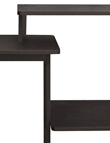 Furinno 11192EX/BK Efficient Computer Desk, Espresso/Black