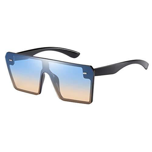 Hffan Mode Mann Frauen Übergröße Quadrat Sonnenbrille Brillen Shades Vintage Retro Style