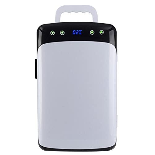 Mini Nevera, Refrigerador de 10 Litros Con Pantalla Digital de Doble NúCleo Refrigerador y Calentador de Maquillaje 12 V Cc / 220 V Ca Calentador Compacto para Dormitorio Dormitorio Coche Genial