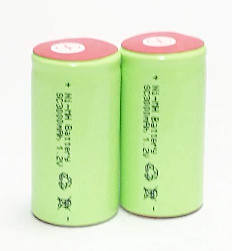 正規容量 国内から発送 22.5x43mm NI-MH Sub-C SC ニッケル水素 ミニ単2 サブC セル エアガン 電動ガン ドライバー ドリル 工具 掃除機 充電池 バッテリー (2)