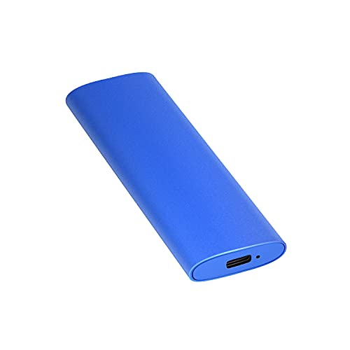 External Hard Drive1TB 2TB Portable External Ultra Slim Hard Drive Portable HDD Type C Hard Drive for Mac,PC (2TB Blue)