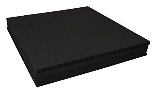 XCEL Large Rubber Foam Non Slip Furniture Pads, Craft Foam, Cushion Foam, Acoustic Foam Studio Squares 12 in x 12 in x 3/8 in, Made in USA (4 Pack)
