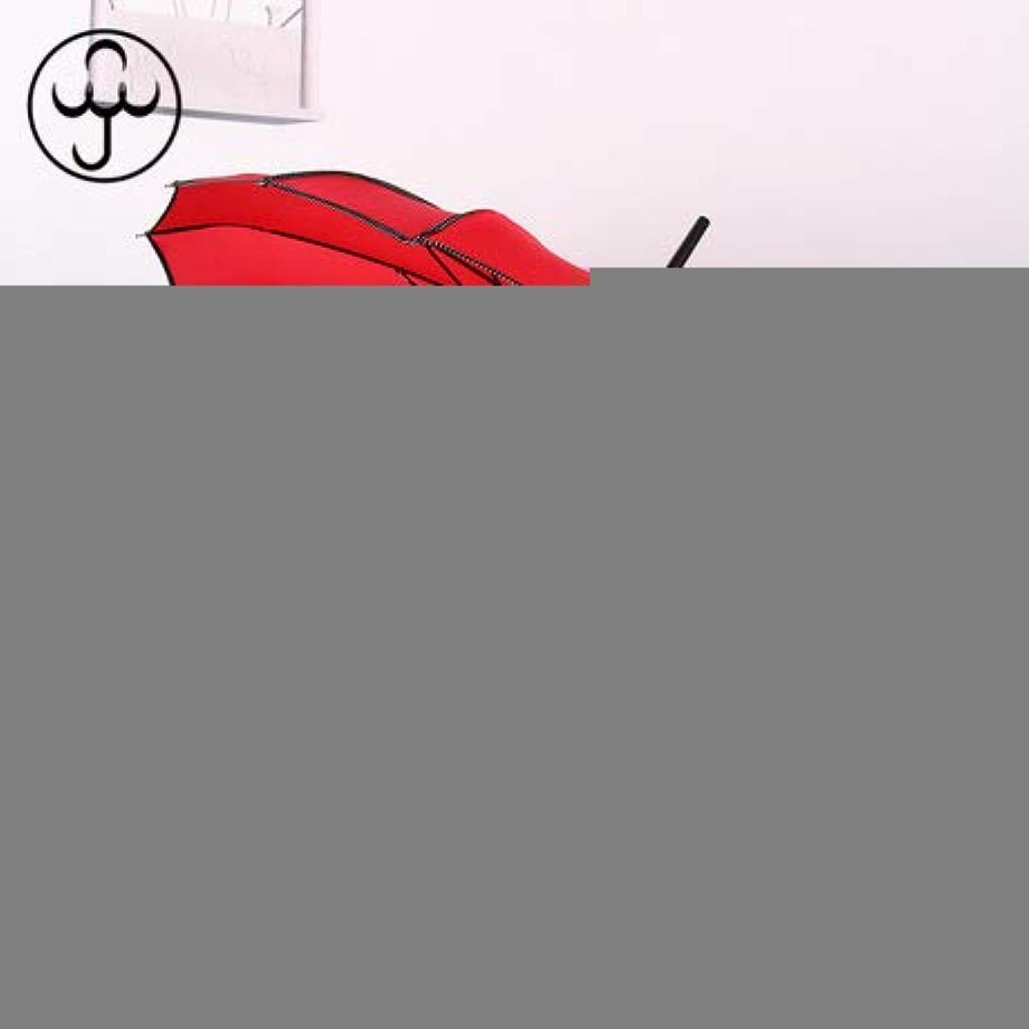 アクセントチャット独創的16 kロングハンドルストレート花嫁ブライダル傘屋外サンシェード傘エッジングパゴダ傘赤 56cm*16k