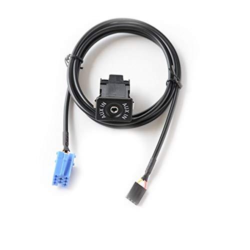 RJJX DIY Coche Radio Audio extendido Mini ISO 8PIN AUX Interruptor Adaptador Ajuste para VW Audi Becker Radio (Color Name : One Set)