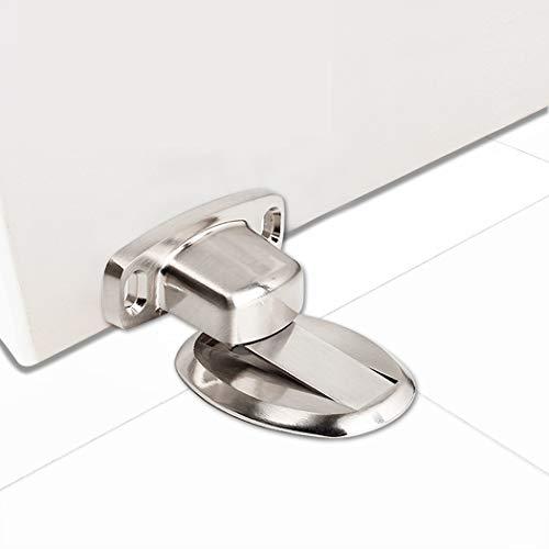 PHOEWON Türstopper Magnet Ohne Bohren Edelstahl Metall Türstopper Tür Stopper Boden, Türhalter (Silber)