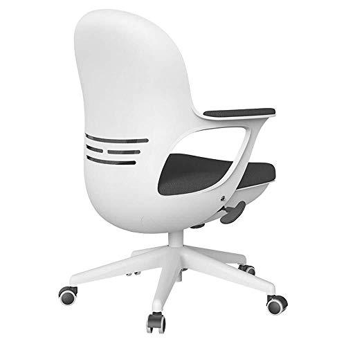XKKD Stuhl Home Office Chair Startseite Studie Stuhl Breath Eggshell Stuhl Höhenverstellbar Lagergewicht 150kg Netz (Color : Black)