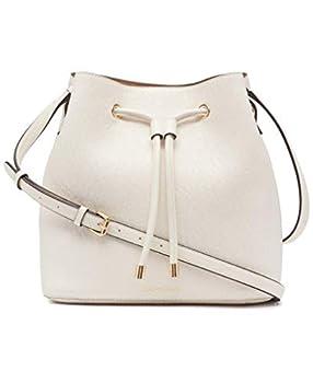 Calvin Klein Gabrianna Novelty Bucket Shoulder Bag White