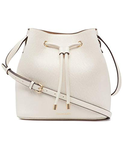 Calvin Klein Gabrianna Novelty Bucket Shoulder Bag, White